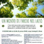 UN MONDO DI PARCHI NEL LAZIO- ROMA, 19 GIUGNO, DALLE 16 ALLE 19, PRESSO WEGIL, LARGO ASCIANGHI 5